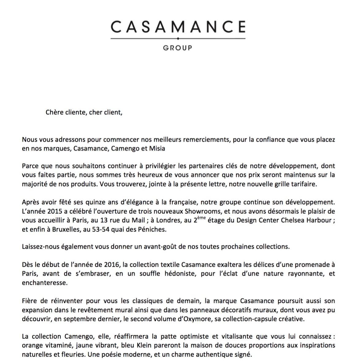 Lettre de fin d'année client rédigée par Raphaëlle Rédactrice, concepteur rédacteur freelance à Paris