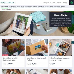 Création de pages catégories produits chez Photobox